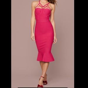 Bebe Flare Hem Bandage Dress